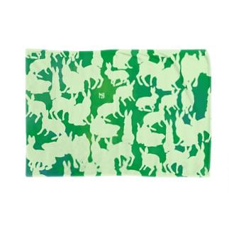 群れる兎のブランケット・緑 ブランケット