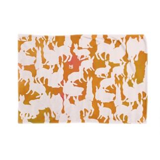 群れる兎のブランケット・橙 ブランケット
