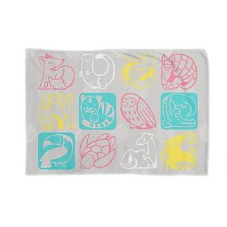 どうぶつもうふ_ピンク Blankets