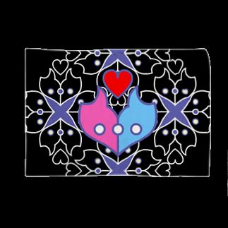 ERIKOERIN ART SHOPの浪漫花-ROMANKA-/ブランケット(ブラック) Blankets
