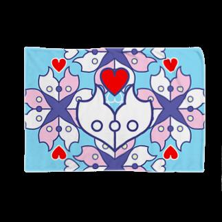 ERIKOERIN ART SHOPの浪漫花-ROMANKA-/ブランケット(アクア) Blankets
