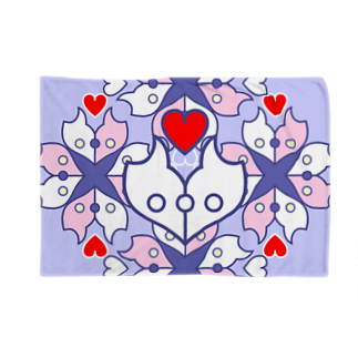 ERIKOERIN ART SHOPの浪漫花-ROMANKA-/ブランケット(ラベンダー) ブランケット