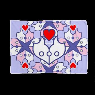 ERIKOERIN ART SHOPの浪漫花-ROMANKA-/ブランケット(ラベンダー) Blankets