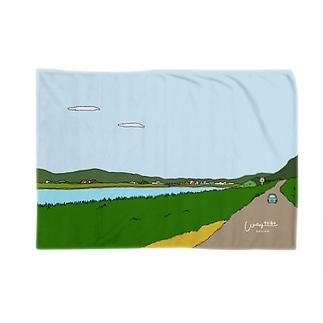 川べりの景色 Blankets