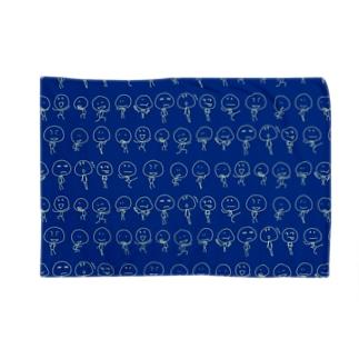 rakugaki_navy Blankets