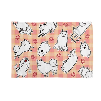 しらたまいっぱい【桃チェック】 Blankets