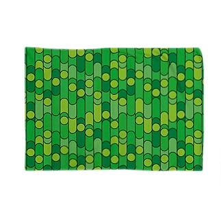 グリーンレトロパターン Blankets