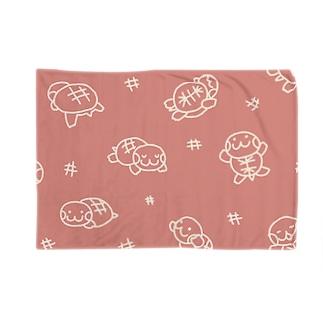 亀だらけ Blankets