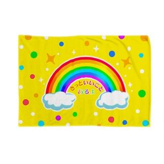 虹の橋(黄色)【虹色HAPPYレインボー】 Blankets