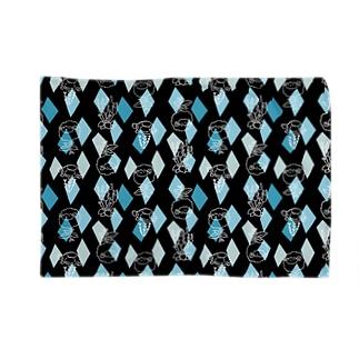 【メリのすけフレンズ】(黒・水色) Blankets