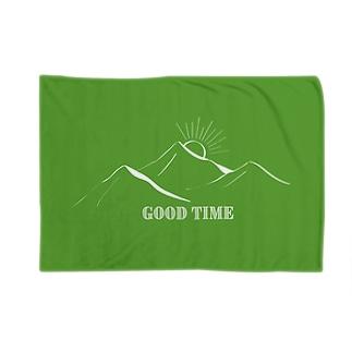 YAMA WARAU(緑) Blankets