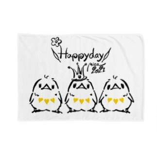 Happyday ひよこトリオ(3tone) Blankets