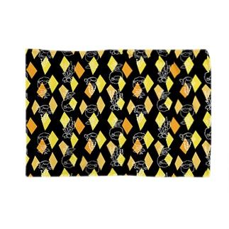 【メリのすけフレンズ】(黒・黄色) Blankets