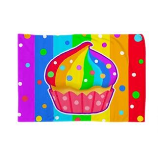 にじカップケーキ(虹色)【虹色HAPPYレインボー】 Blankets