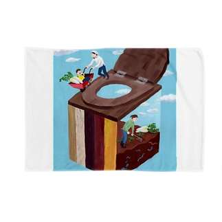 コンポストトイレ Blankets