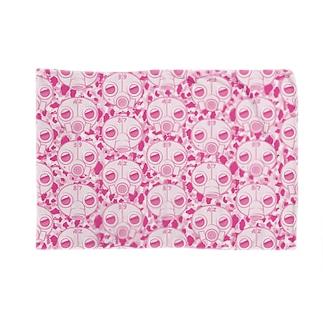 ガスマスクモノグラム-ピンク Blankets