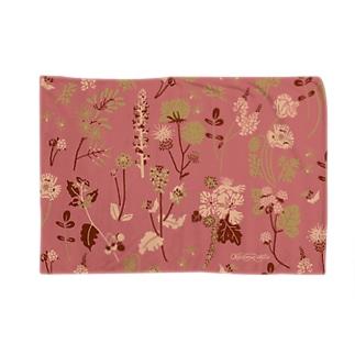 野の草花(ピンク) Blanket