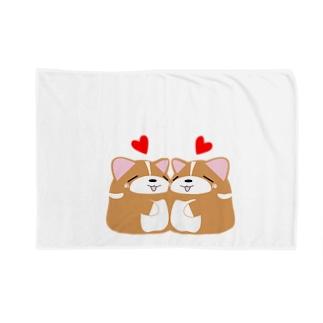 いなり犬(ラブ) Blankets