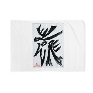 障がい者アート「花-FLOWER-」 Blankets