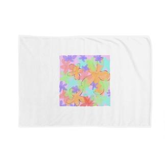 お花柄 Blankets