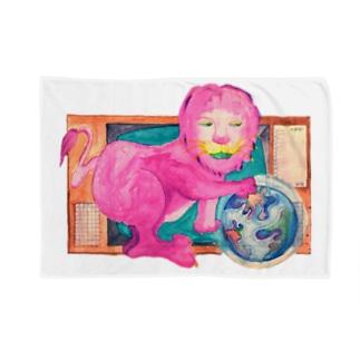 ピンクのライオン Blankets