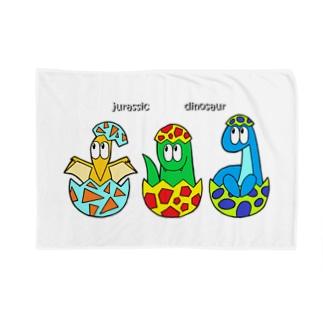 SHUNKAの恐竜/モンスター Blankets