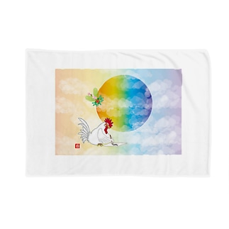 酉年のニワトリのイラストgoods Blankets