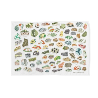 陶器片いろいろカラフル Blankets