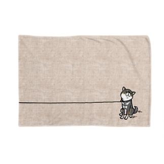 イヤイヤ柴犬(黒柴) Blankets