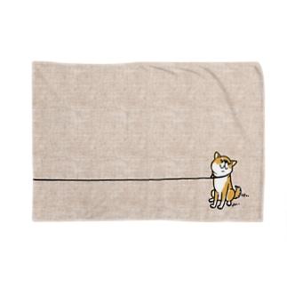 イヤイヤ柴犬(赤柴) Blankets
