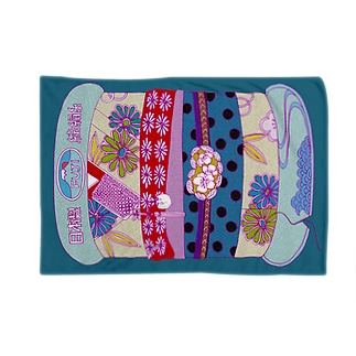 ポップなキモノ柄の糸巻き Blankets