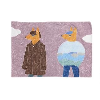 twins fox Blankets