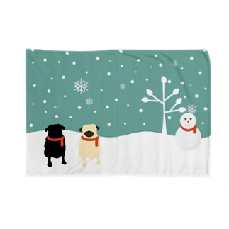 SNOW PUGS Blankets
