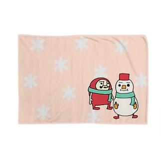 だるまるまん(ピンク) Blankets