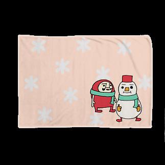 sachomrockのだるまるまん(ピンク) Blankets