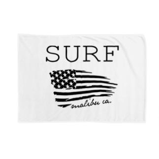 SURF in Malibu,CA Blankets