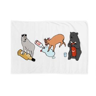野生動物大宴会 Blankets