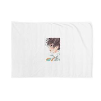 少女の横顔(スマホケース) Blankets
