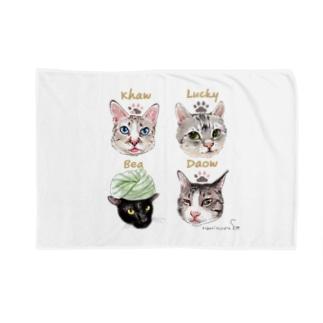 なにぬ猫-YAの<うちの子+にくきゅう*ポートレート>KHAW & DAOW&BEA&LUCKY Blankets