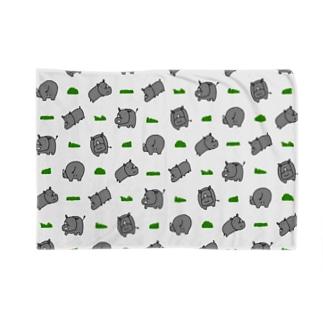 サイと草 Blankets