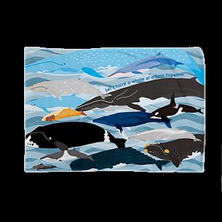 クジラのマグカップ屋さん。プラスのホエールパラダイスブランケット