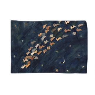 月と金星と流れ星 Blankets