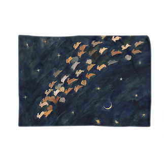 SCHINAKO'Sの月と金星と流れ星ブランケット