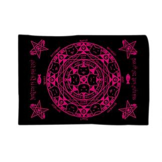 猫召喚魔法陣(ピンク) Blankets