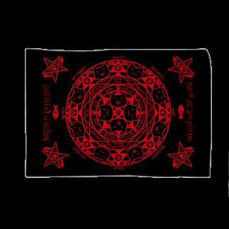 PygmyCat suzuri店の猫召喚魔法陣(赤) ブランケット