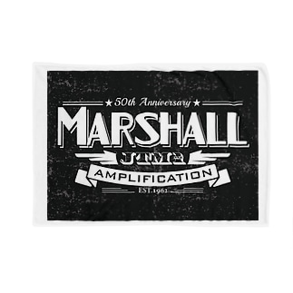 Marshall Old Type Logo Blankets