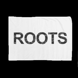 ラーメンROOTSのROOTS公式ブランケット