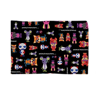 animal monsters...(総柄) Blankets