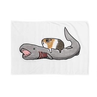 深海×モル ラブカに乗ったモル Blankets