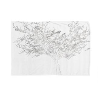 (白抜き)シルエットな木 Blankets